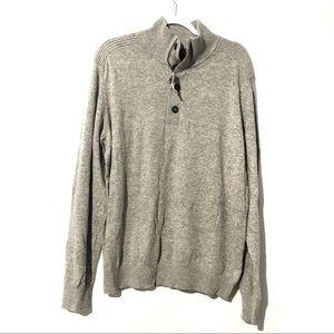 Banana Republic Pullover Sweater Zipper Button